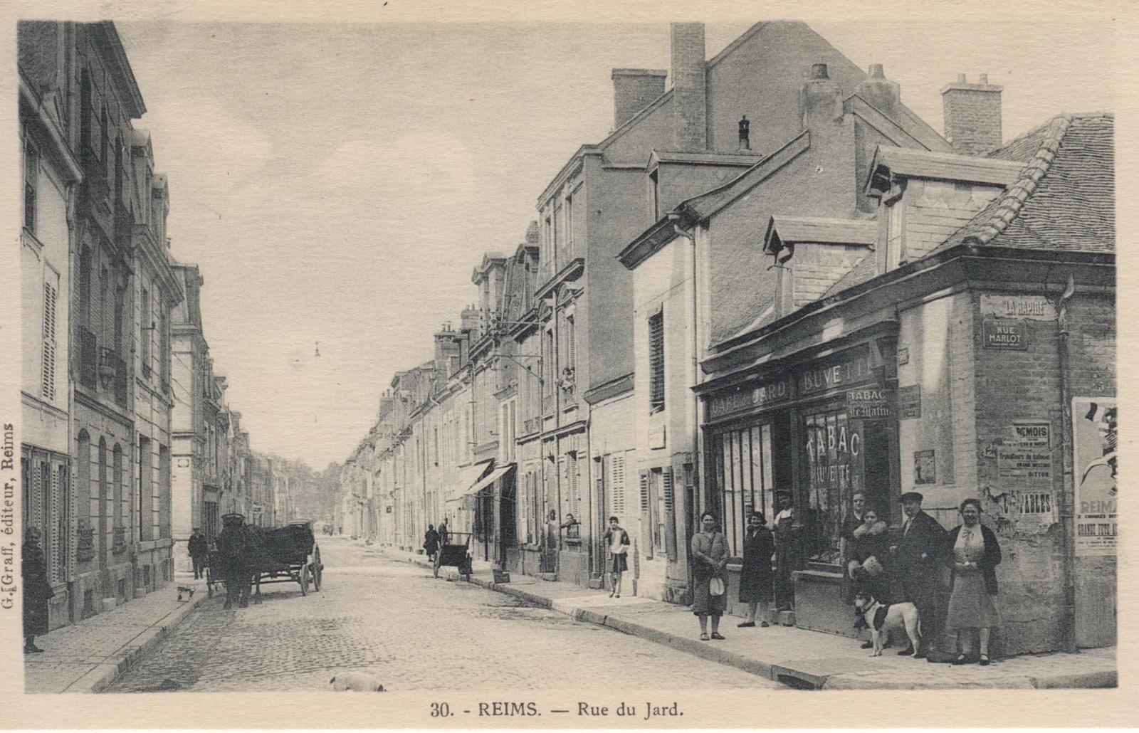 Rue du Jard, où logeait Paul Hess pendant la guerre