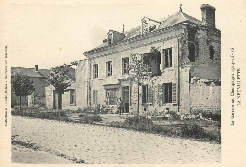 La distillerie de Merfy et l'hôtel de ville de La Neuvilette
