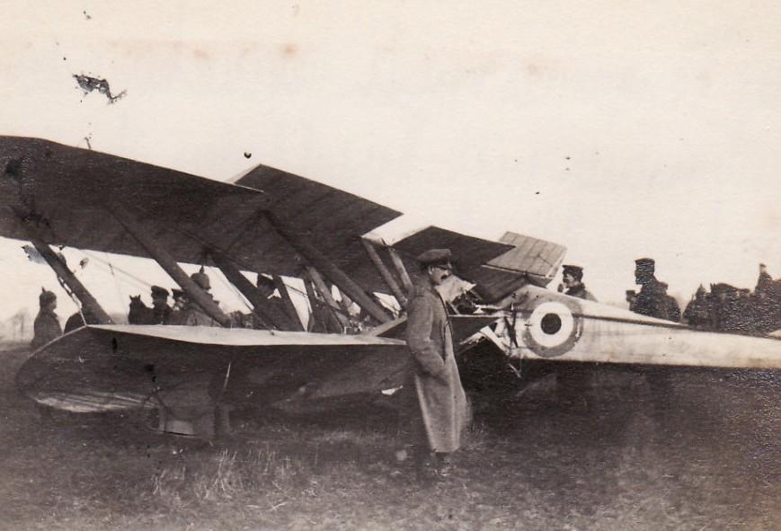 FOUQUIERES - avion anglais abattu par le lieutenant Bölke