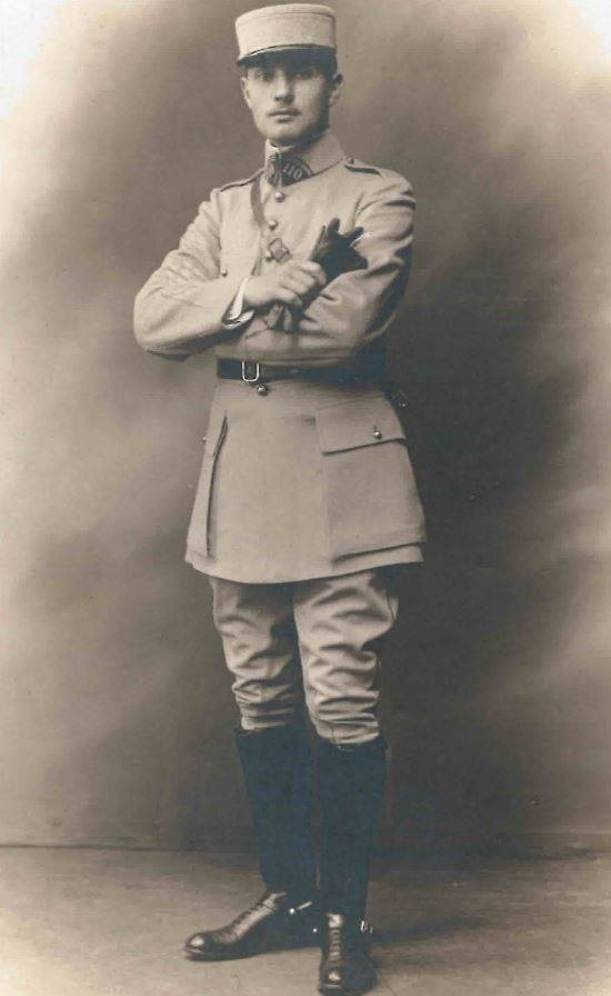 LONJARRET André (1895-1918) Sous-lieutenant au 110e puis 310e Régiment d'Artillerie, MPF au Bois d'Ecueil (Marne) le 09/06/18