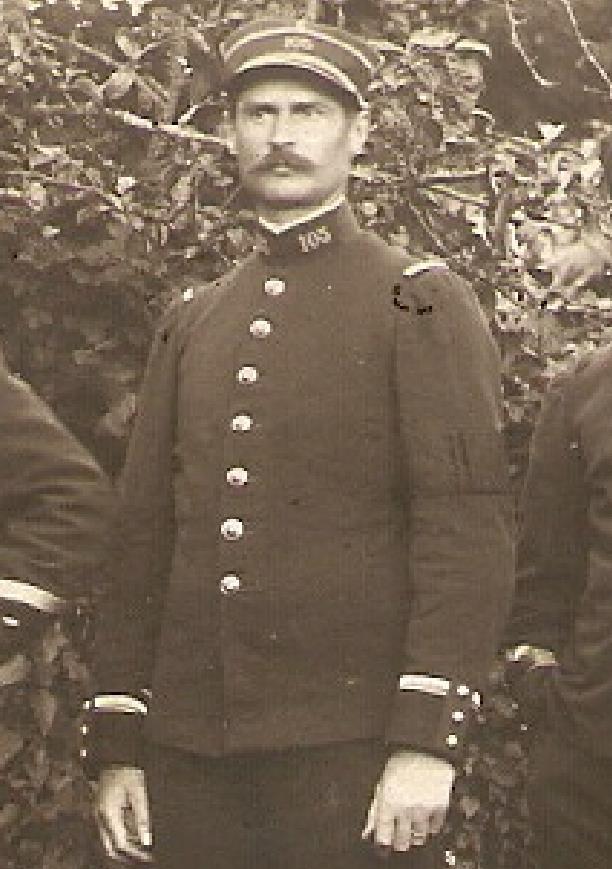 GARRET Simon (1878-1967) ancien du 4e Régiment de Zouaves, Sous-lieutenant (1914)