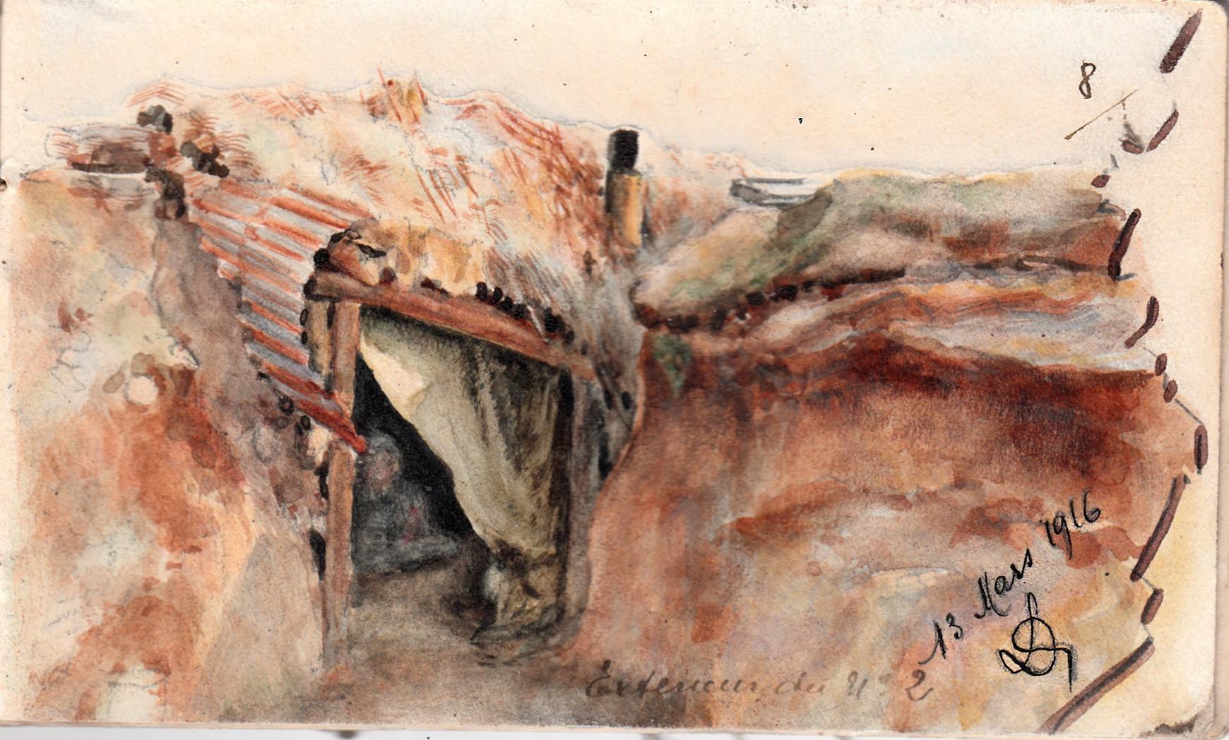 13 mars 1916 - carnet Louis Delozanne