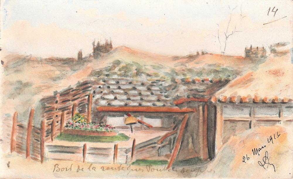 Louis Delozanne - 26 mars 1916 - Bord de la route près pont de Suippes