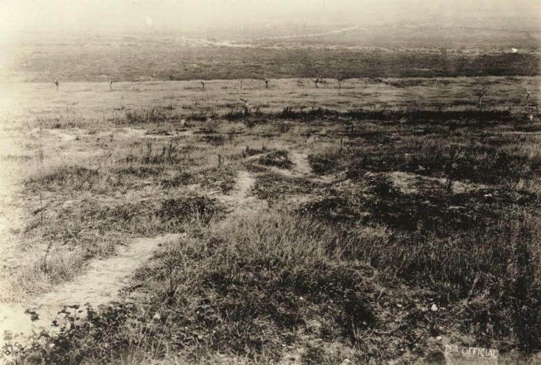 no man's land entre Esnes et Haucourt photo officielle américaine