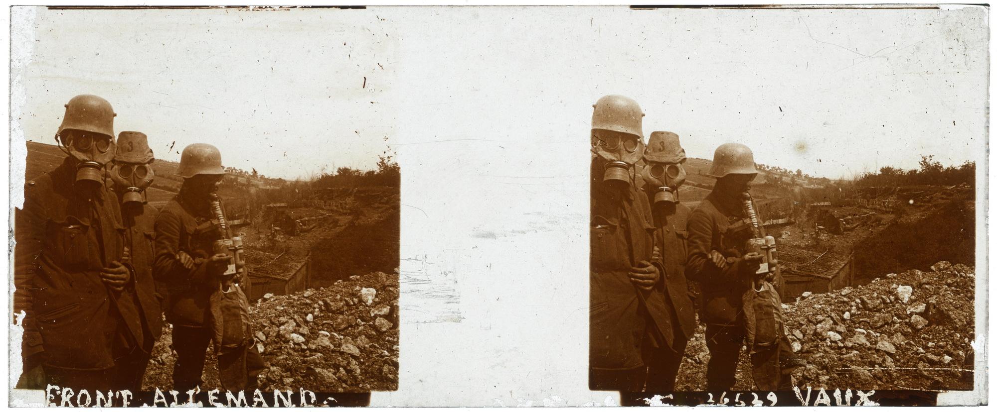 Vaux, le front allemand, le 4 novembre 1916