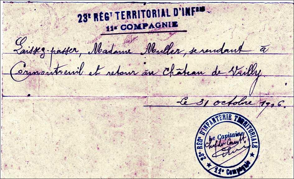 2 novembre 1916. Nuit militairement tranquille